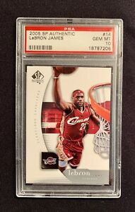 LEBRON JAMES, 2005 Upper Deck SP Authentic #14, PSA 10 GEM MINT, Cavaliers
