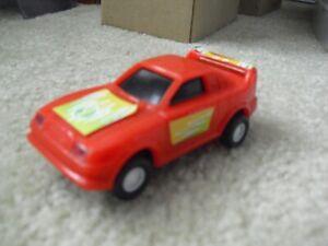 Vintage 1990s Golden Bright Red #1 Race Car Slot Car