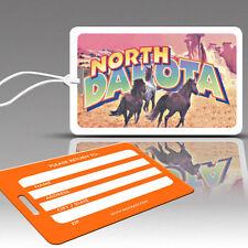TagCrazy Luggage Tags, North Dakota Americana Design, Durable Plastic Loops-1 Pk