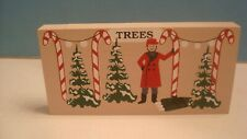 Cat's Meow Candy Cane Christmas Tree Lot, Wood Block Village Piece