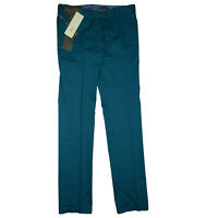 Jean Biani Herren Chino Hose Jeans Slim Fit Cotton Stretch 48 W31 L32 Türkis NEU