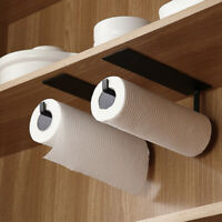 Kitchen Roll Holder Wall Mount Self-Adhesive Tissue Toilet Paper Towel Rack
