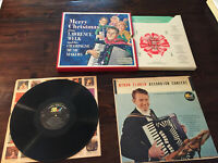 Myron Floren: Accordion Con / DOT 33 RPM LP + Merry Christmas from Lawrence Welk