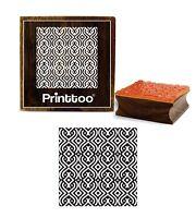 printtoo Grenze Muster braune Holz Stempel Karte Quadrat Stempel machen
