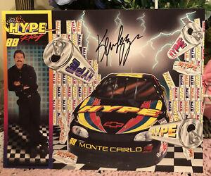 1997  KEVIN LEPAGE #88 HYPE NASCAR   SERIES POSTCARD SIGNED AUTOGRAPHED