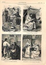 Paris Exposition universelle Fontaine Japon Cordonnier Algérie ILLUSTRATION 1878