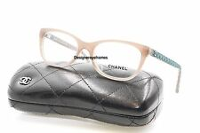 CHANEL 3288Q 1416 Taupe/Green Quilted Rectangular 49mm Rx Eyeglasses NWT AUTH