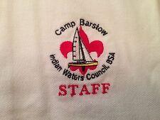 Boy Scout Golf Shirt Camp Barstow STAFF,  VERY NICE, Size XXL, Muscogee 221