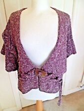 "Unusual & Quirky Barbara Speer Linen & Silk Mix Cardigan 60"" Bust"