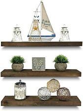 Rustic Farmhouse 3 Tier Floating Wood Shelf / Real Hardwood Floating Wall Shelve