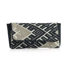 Beige and Black Jacquard Clutch (11x6 in) Brand new in Plastic storage bag