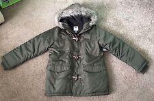 Gap / Old Navy Khaki Green Duffle Parka Style Winter Coat : Size M / Age 8  BNWT