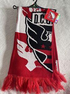 MLS DC United Adidas Jacquard Red Black White Scarf NWT Soccer
