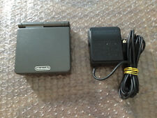Game Boy Advance, GBA SP Graphite System AGS 101 Bundle with Charger -- Tested
