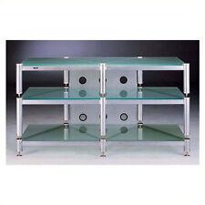 entertainment center glass tv stands stand furniture 50 silver metal open shelf - Glass Entertainment Center