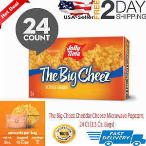 JOLLY TIME The Big Cheez Cheddar Cheese Microwave Popcorn, 24 Ct (3.5 Oz. Bags)