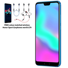"NUOVO Huawei Honor 10 PHANTOM BLUE 5.84"" 128GB DUAL SIM 4G LTE Android 8 SIM GRATIS"