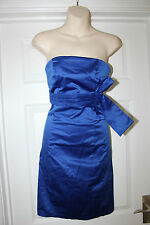 Ladies Royal Blue West One Dress Size 8 Evening Strapless Cocktail Party