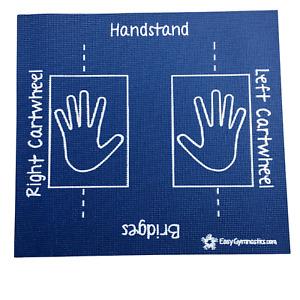 Blue Cartwheel Training Mat (Teaches: Handstand, Bridges, Rolls) - Non-Slip;Soft