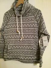 Ladies Grey & White Nordic Print Jumper/sweat Shirt, 'TU' Clothing Size 12