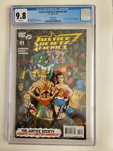 Justice Society Of America #41 2010 1:25 Perez Variant 75th Anniversary CGC 9.8