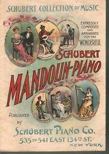 Schubert Collection - Schubert Mandolin-Piano Company Sheet Music
