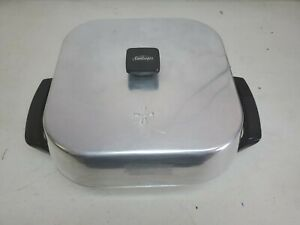 Sunbeam Electric Frying Pan Skillet High Dome Aluminum VTG Square Knob