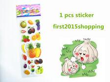 New listing Handmade Fruits Artoon Pattern Scrapbooking Funny Stickers Lot Kids Gifts 1pc
