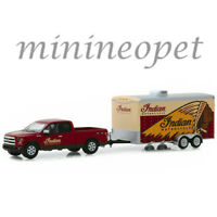 GREENLIGHT 32180 C 2017 FORD F-150 PICKUP ENCLOSED HAULER INDIAN MOTORCYCLE 1/64