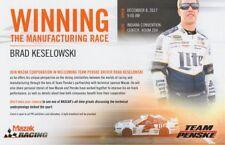 2017 Brad Keselowski Mazak Ford Fusion PRI Show Promo NASCAR MENCS postcard