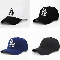 LA letter Baseball Cap Dodgers Embroidery Hip Hop Bone Men Sport Adjustable Hats