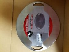 Bull 24213 Dishwasher Safe Stainless Steel Grilling & Serving Plate, Silver