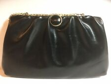 Black Clutch Bag Purse With Gold Chain Strap