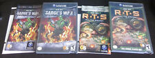 ARMY MEN LOT of 2 Games Sarge's War and RTS R T S Nintendo GameCube COMPLETE