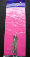 20 x HOT PINK cello treat loot Party Bags LARGE easter valentines favour bags