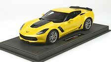 2015 Corvette C7 Z06 in Velocity Yellow in 1:18 Scale by BBR     P1893A-1