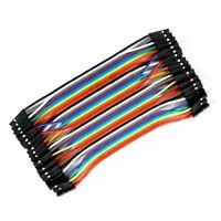 3X 40pcs 10cm Male To Female Dupont Wire Jumper for Arduino Breadboard W2E2 C9B5