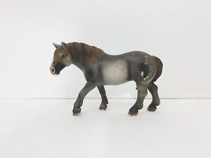 Retired Schleich 2007 Grey Percheron Mare Horse Figure