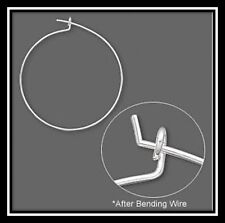 Earring, silver-plated brass, 25mm round hoop. Sold per pkg of 50 pairs.
