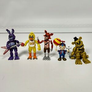 Five Nights Freddys FNAF Mini Funko Lot Action Figure Chica Foxy Bonnie 2 inches