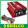 AMPLIFICADOR MINI ESTEREO HIFI 12VDC 2X20W RMS 500W PMPO CONTROL VOLUMEN BD11751