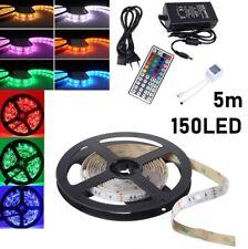 5M SMD 5050 Lichterkettenband LED Streifen Strip RGB 150 LEDs IP65 IR-Controller