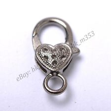 Gold Silver Plated Bronze Copper & Dots & Charms Heart Lobster Clasps