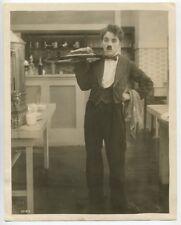 Charlie Chaplin Original 1916 Photograph Restaurant Waiter The Rink J452
