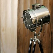 Nautical Search/Spot Light Industrial E 27 Standard Floor Lamp Marine W/Tripod