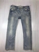BKE Buckle Womens Stella Cropped Jeans Capri Stretch Blue Sz 26