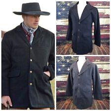 Wyoming Traders Mens 100% Wool Cowboy Western Frock Coat