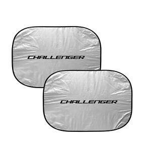 "Dodge Challenger Dual Panels 2-28"" W x 24"" L Easy Folding Windshield Sun Shade"