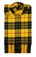 MACLEOD DRESS MODERN TARTAN SCARF 100% LAMBSWOOL  by LOCHCARRON