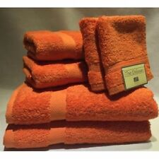 Espalma Deluxe 6-Piece Cotton Bath Towel Set in Orange - 6Pc Orange Towel Set
